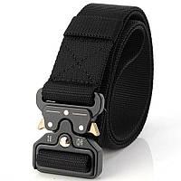 Ремень тактический Assault Belt с металлической пряжкой 125 см Черный