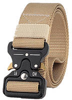 Ремень тактический Assault Belt с металлической пряжкой 125 см Песочный