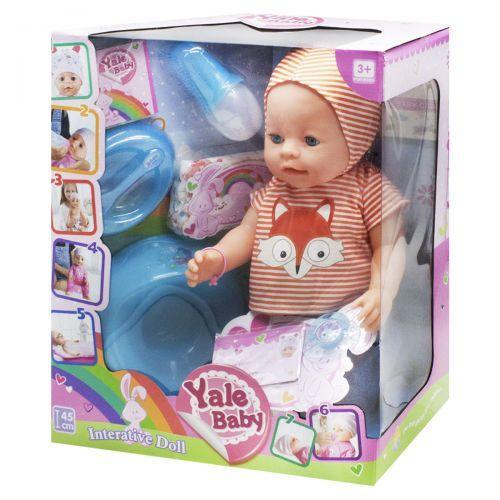 """Детская кукла Пупс """"Yale baby"""", в полосатом"""