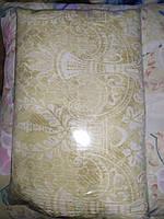 Двуспальное постельное белье жатка молочное
