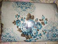 Двуспальное постельное белье жатка цветочки