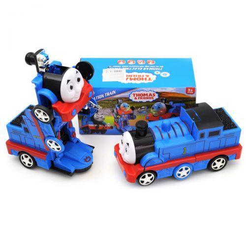 Детский игрушечный Поезд-трансформер Томас озвучен, со светом