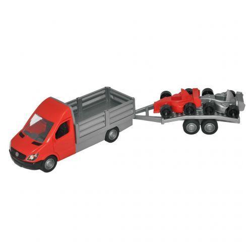 """Детский игрушечный набор Бортовая машина """"Mercedes-Benz Sprinter"""" и 2 гоночные машинки"""