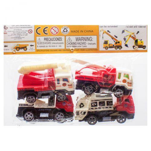 Набор детской игрушечной спецтехники 4 машинки