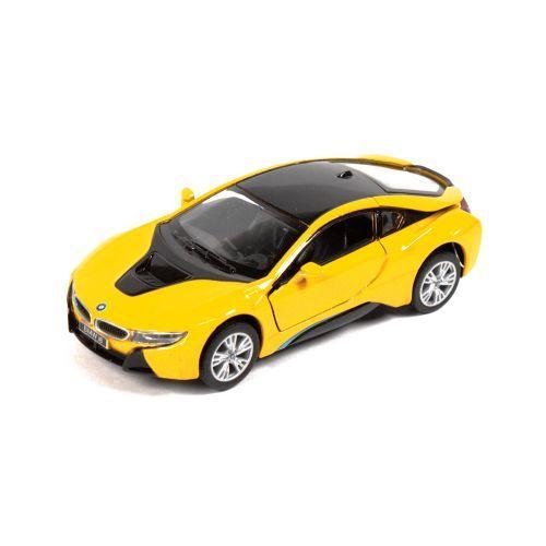 """Детская машинка KINSMART """"BMW i8"""" (желтая)"""