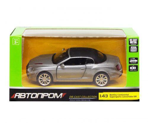"""Детская машинка """"Bentley Continental"""" из серии """"Автопром"""", серый"""