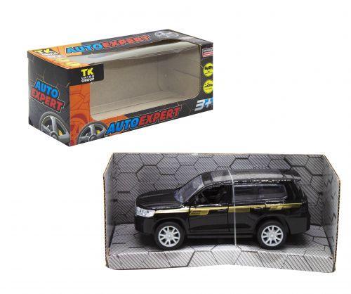 """Детская машинка металлопластик """"Toyota Land Cruiser 300"""", черный"""