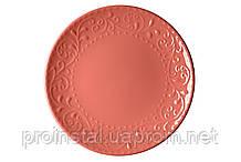 Тарелка обеденная Ardesto Olbia, 26 см, Deep orange, керамика