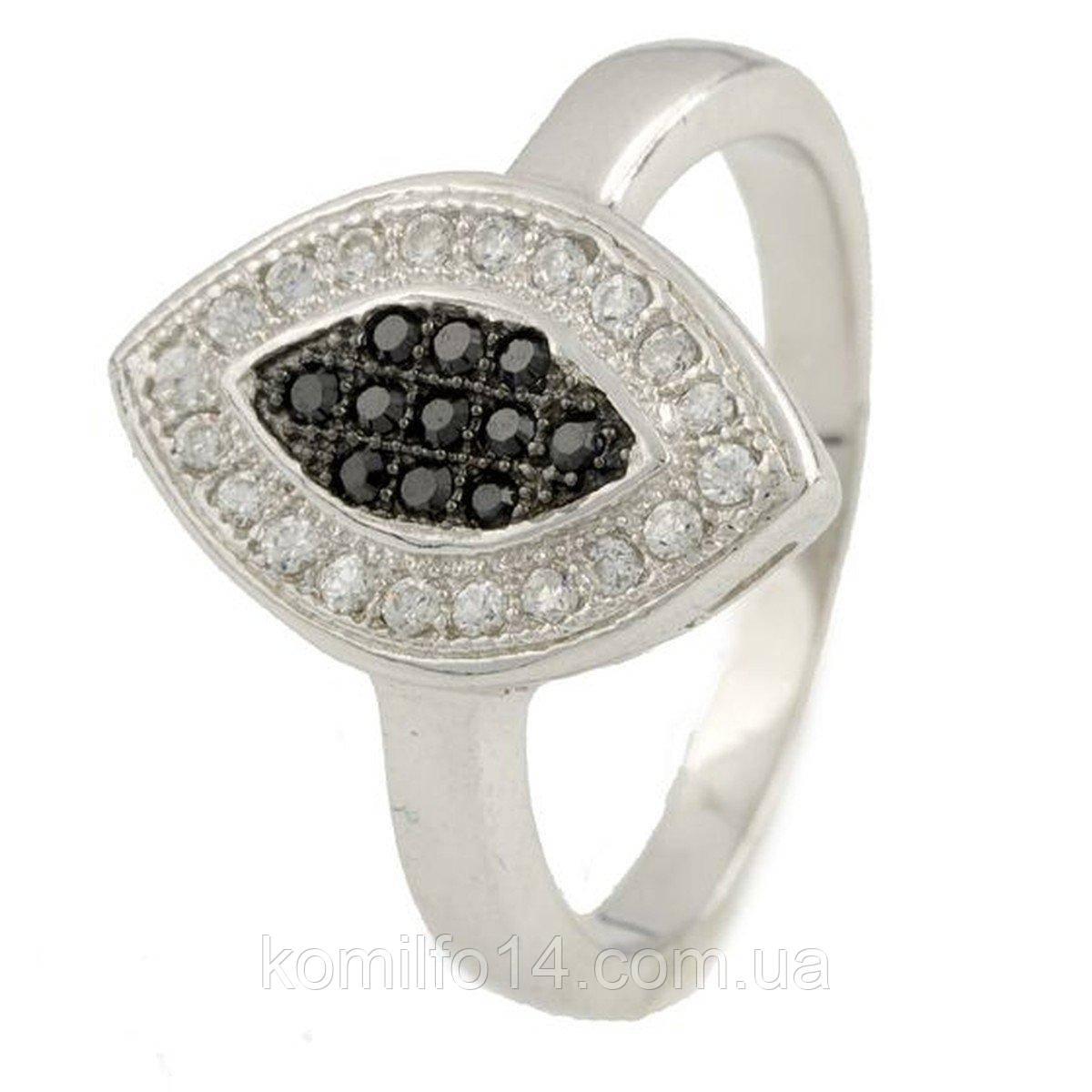 Серебряное кольцо Komilfo с фианитами (0118314) 16.5 размер