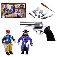 Игровой набор с фигурками пиратов и пистолетом