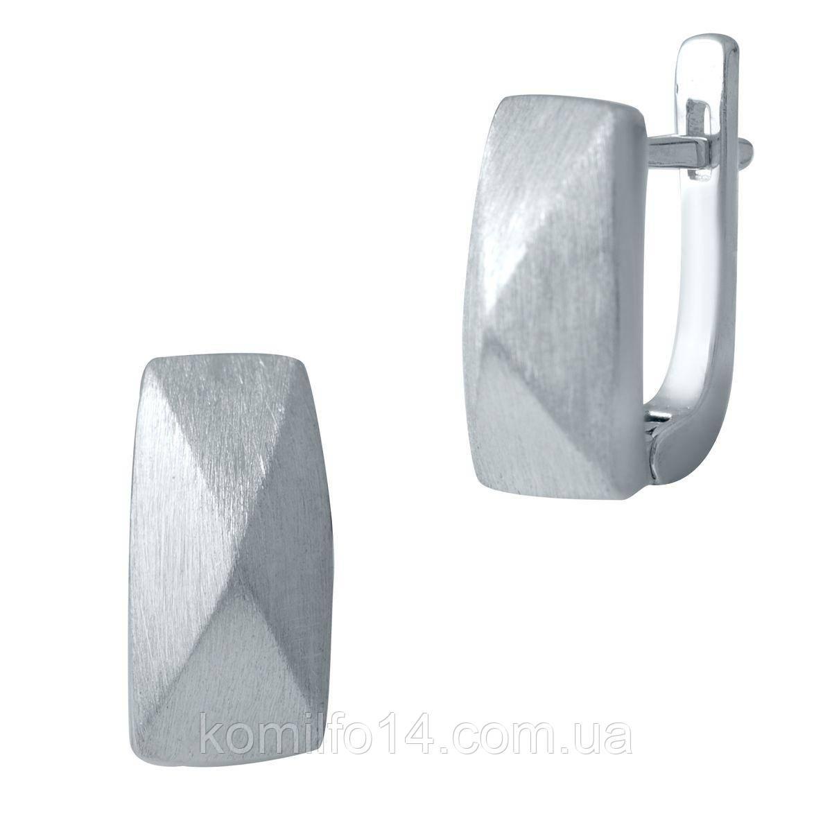 Серебряные серьги Komilfo без камней (2029670)