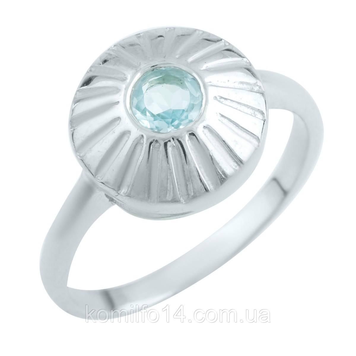 Срібне кільце з натуральним топазом