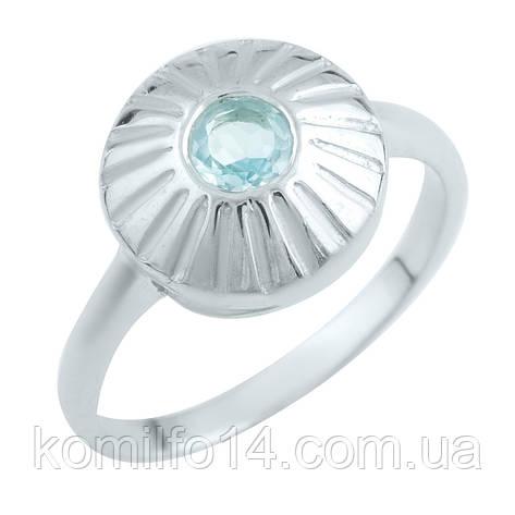 Срібне кільце з натуральним топазом, фото 2