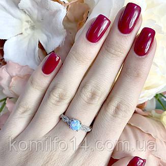 Серебряное кольцо с благородным опалом, фото 2
