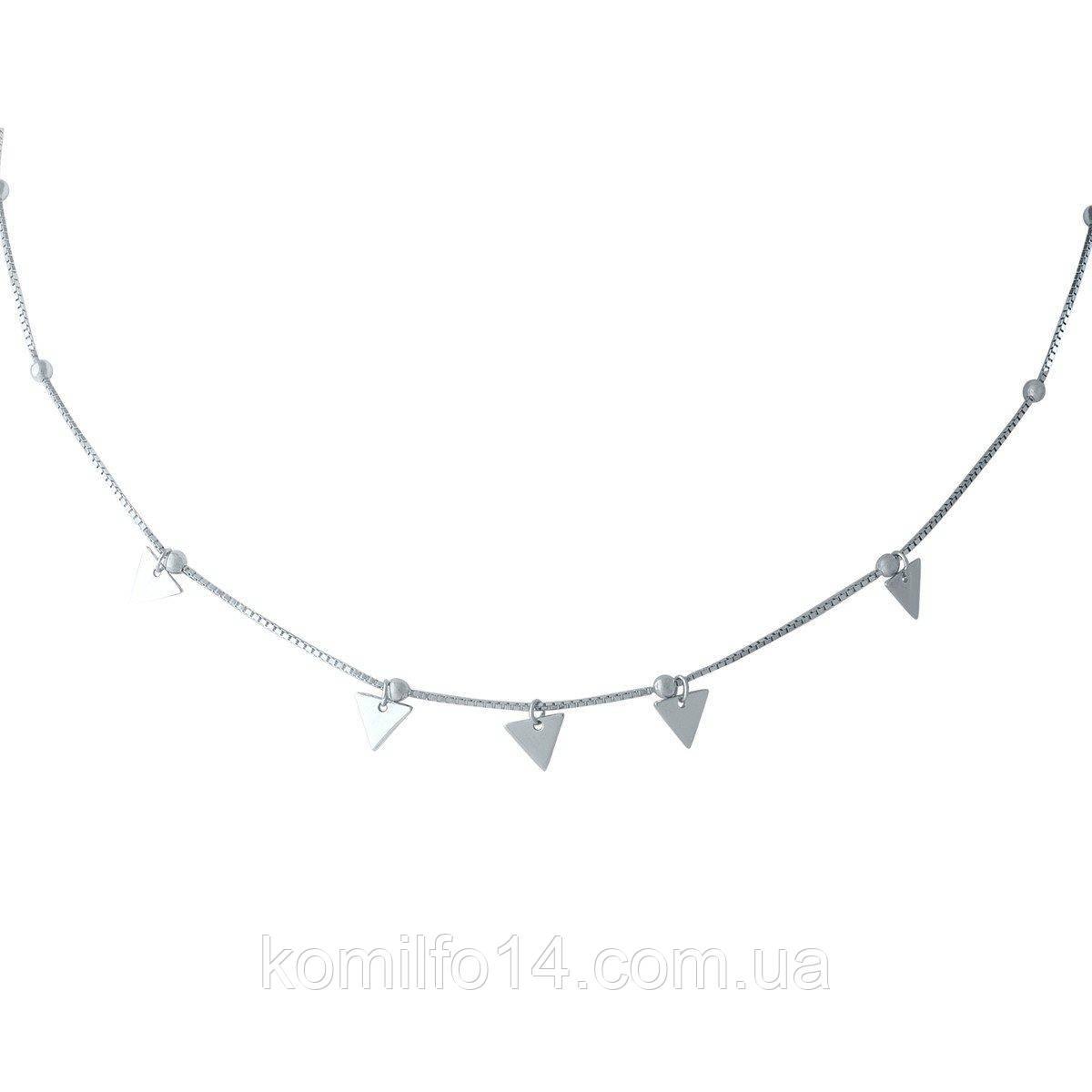 Срібне кольє Komilfo без каменів (1965214) 360400 розмір