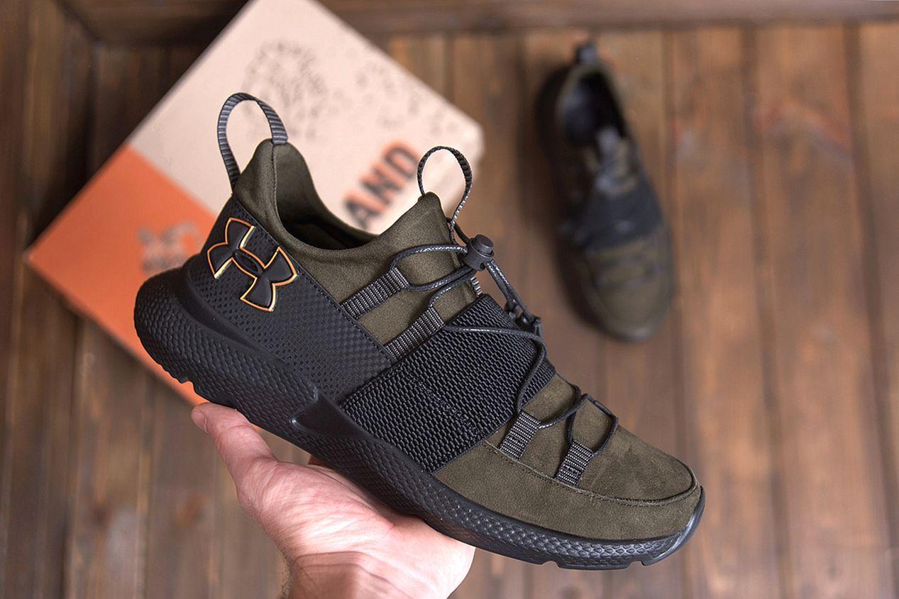 Чоловічі шкіряні кросівки Under кольору хакі