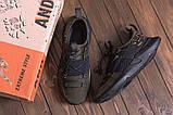 Чоловічі шкіряні кросівки Under кольору хакі, фото 3