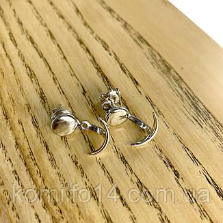 Срібні сережки без каменів, фото 2