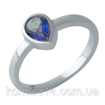 Срібне кільце з натуральним містик топазом, фото 2