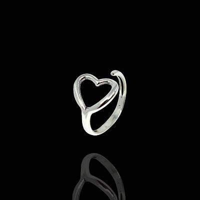 """Кільце срібне """"Серце"""" безрозмірне"""
