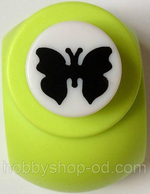 Дирокол фігурний Метелик кнопка 1,8 см