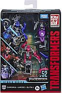 Transformers Toys  Трансформер Три Мотоцикла Арси Хромия Элита-1 Месть Падших Fallen Movie Arcee Chromia Elita, фото 9