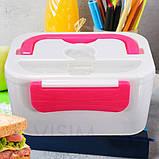 Ланч-бокс с подогревом Lunch Box(12V). Цвет: розовый, фото 4