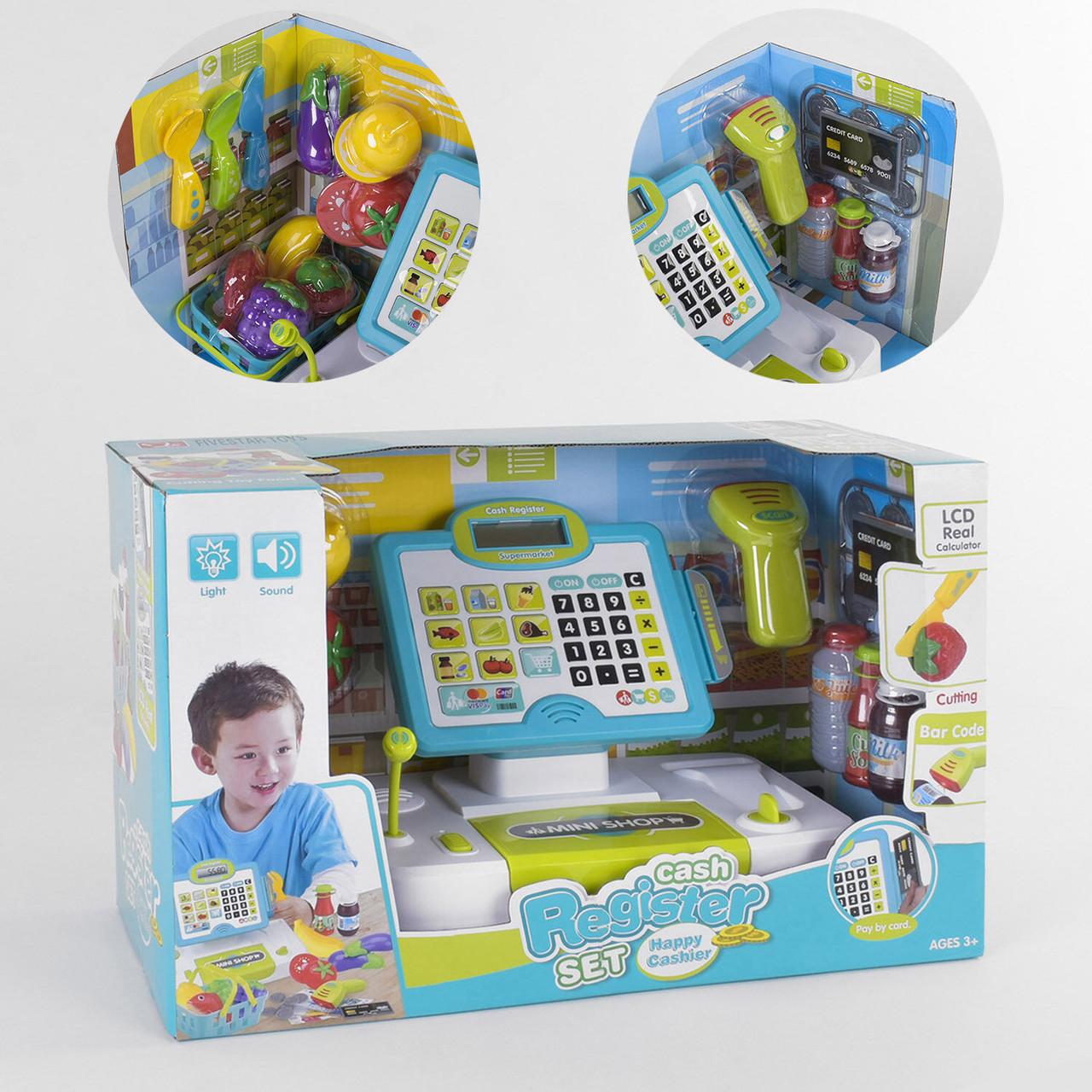 Кассовый аппарат 35552 А детский с микрофоном калькулятором