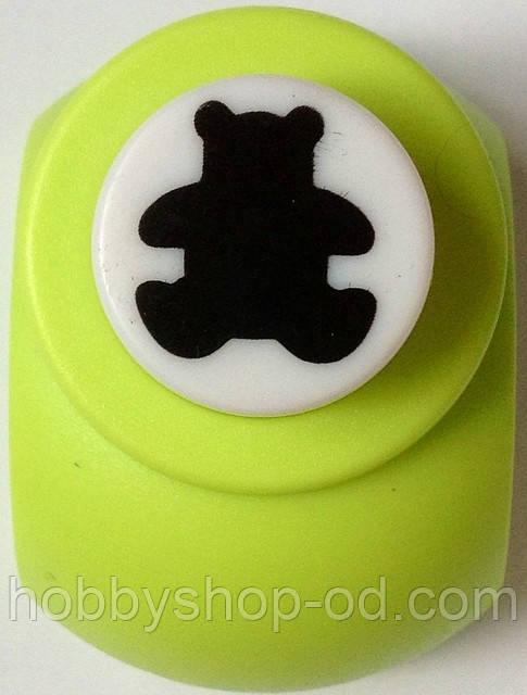 Дырокол фигурный Мишка кнопка 1,8 см