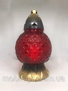 Лампадка стеклянная 55 ч. (29 см.) 4шт / ящ (325КТ)