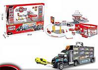 Игрушка автовоз с набором машинок и паркинг пожарная станция HC227716