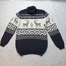 Вязаный свитер детский с оленем 116 - 146 роста CILIVILI ваниль, фото 2