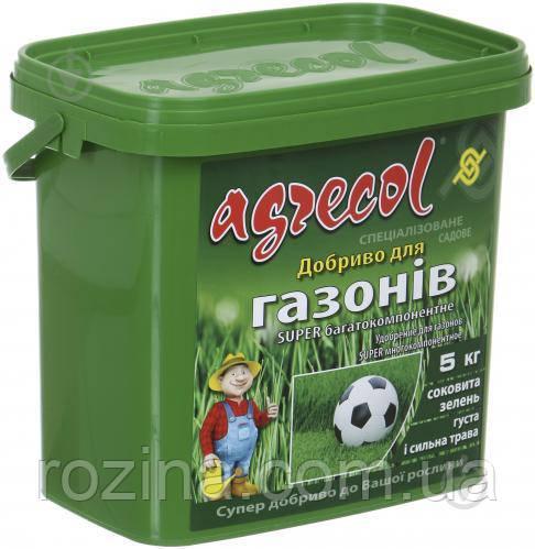 Удобрение Agrecol для газонов многокомпонентное 5 кг 1кг