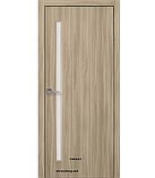 Двери межкомнатные Квадра Глория Новый Стиль Экошпон со стеклом сатин 60, 70, 80, 90