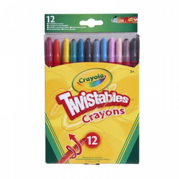Crayola Выкручивающиеся восковые мелки 12шт Twistables crayons