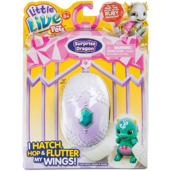 Little Live Pets S1 Интерактивный дракончик в яйце сюрприз Splash Dragon Single Pack Childrens Toy