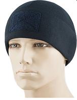 M-Tac шапка Watch Cap Elite фліс (270г/м2) з липучкою Dark Navy Blue, фото 1