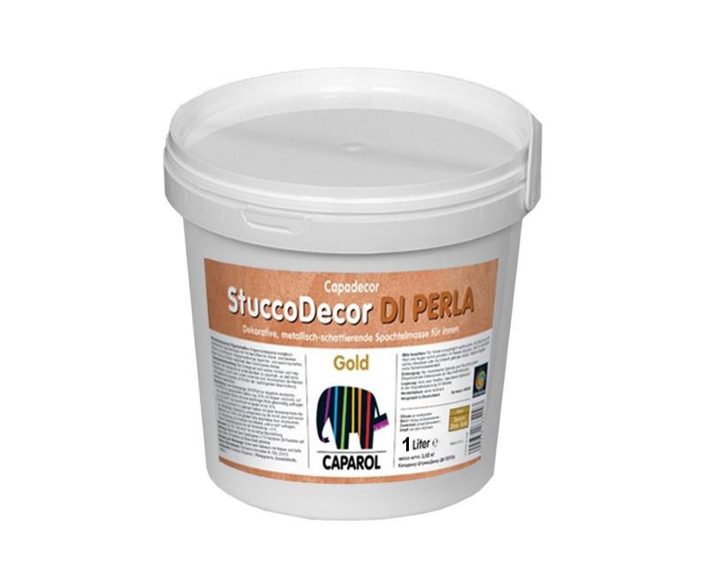 """Штукатурка """"отточенто"""" CAPADECOR STUCCO PERLA DI GOLD, 2,5 л"""