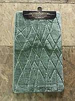 Оливковый набор ковриков Турция 3Д однотонный в ванную комнату и туалет