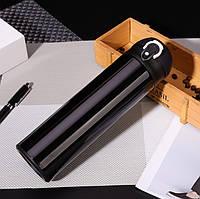 Термос кружка с кнопкой с двойными стенками из нержавеющей стали Романтик OUSSIRRO 500 мл черный