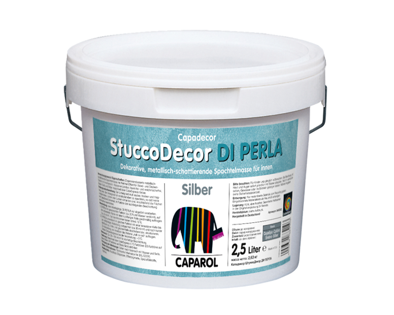 "Штукатурка ""отточенто"" CAPADECOR STUCCO PERLA DI SILBER декоративна 2,5 л"
