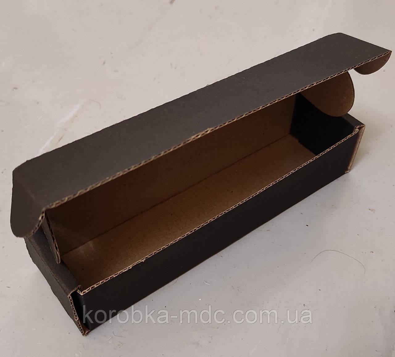Коробка ЧЕРНО-бурая 152х41х32 пенал