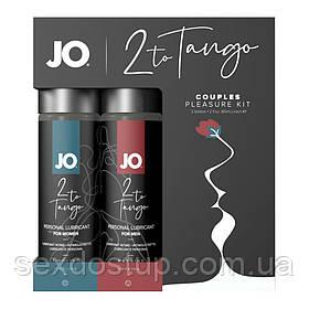 Набор смазок для пары System JO 2-TO-TANGO: продлевающая для него и возбуждающая для нее