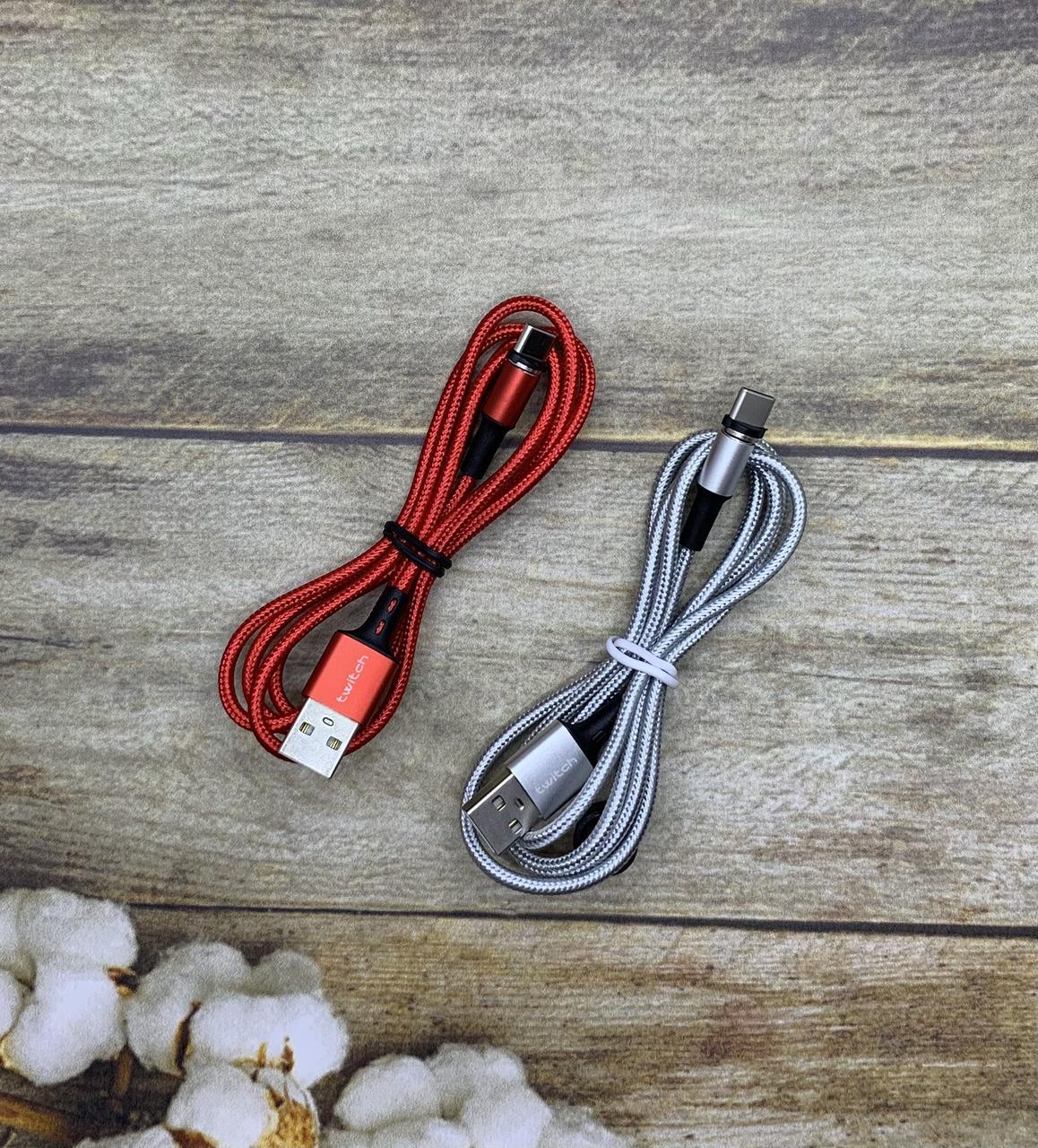 Магнитный Type-C USB кабельTwitch 1м зарядный шнур