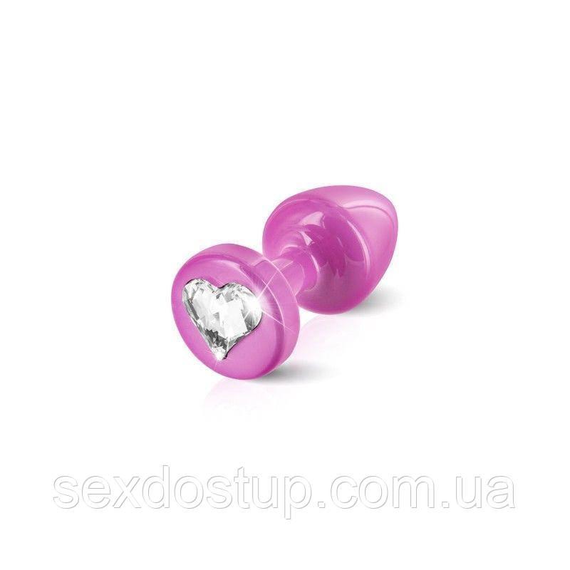 Анальная пробка Diogol Anni R Heart Pink: Кристалл 30мм, с кристаллом Swarovsky в виде сердечка