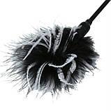 Метелочка 2-в-1 Sex And Mischief - Whip & Tickle Blck/White (щекоталка и шлепалка), фото 2