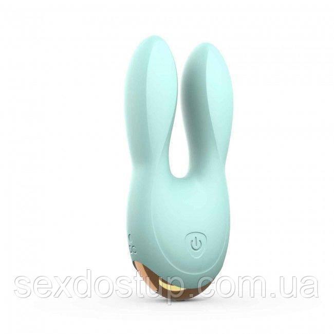 Вибратор-кролик Love To Love Hear Me Menthe с двумя моторчиками и разноцветной LED-подсветкой