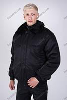 Бушлат Зимний черный для охраны, фото 1