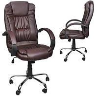 Офисное, компютерное кресло Malatec корычневое