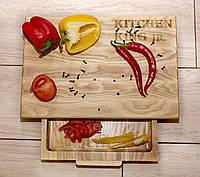 Кухонна обробна дошка «KITCHEN KING jr.» 40*27*6 см